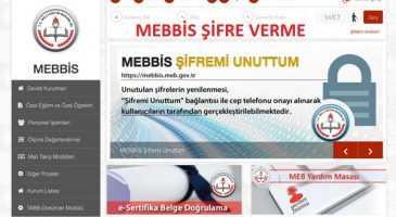 MEBBİS ŞİFRE VERME