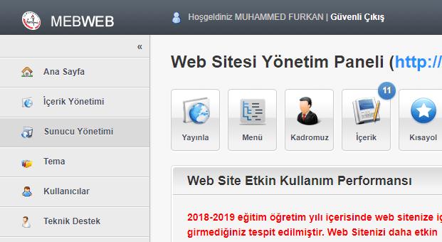 okul web sitesi tema değiştirme