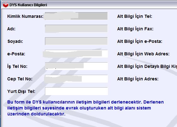 DYS mail bağlantısı