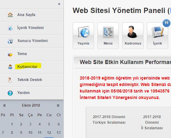 r1 okulweb sitesi yetkili tanımlama