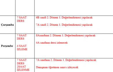 ingilizce aday öğretmen formları